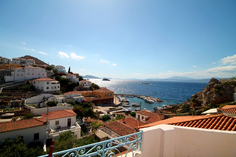 Stunning views from this spacious partially renovated village house in Kamini, on the island of Hydra.