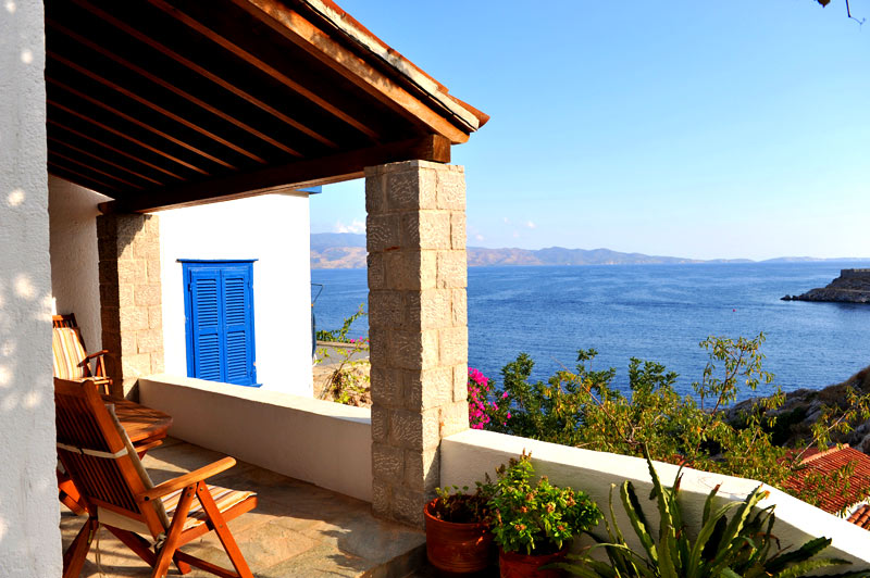 A two bedroomed house very close to the sea in Mandraki.