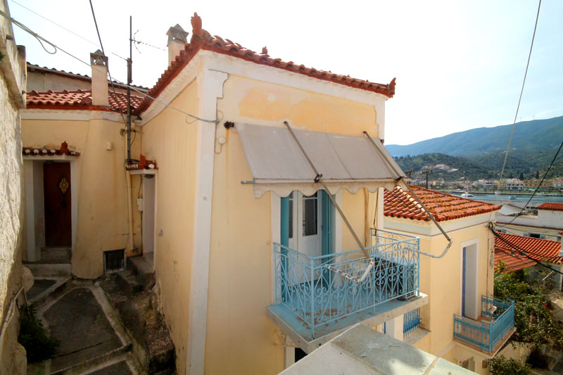 A traditional village house in Poros town, very close to the sea front.