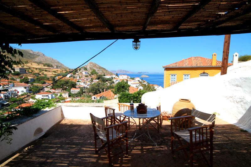 A traditional Hydra house with great sea views