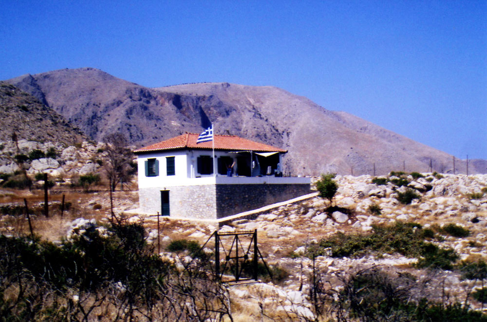 A remote holiday home, close to the sea on the south side of Hydra island.