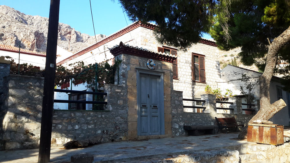 A substantial two storey house near the port, ripe for renovation.