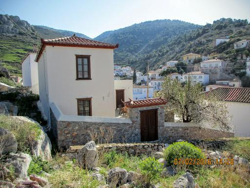 A two storey house in the Kala Pigadia region of Hydra Town, recently renovated (2006).