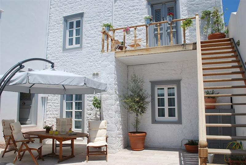 Traditional Hydra House, sympathetically converted into apartments, very close to the port
